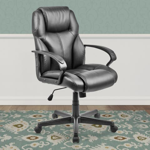 Black Leatherette Managerial Office Chair