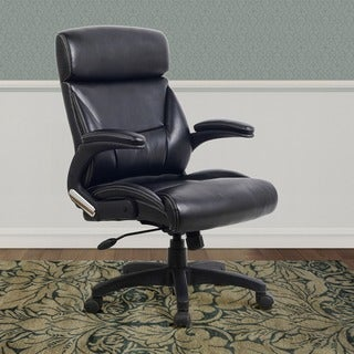 CorLiving WHL-201-C Black Leatherette Managerial Office Chair