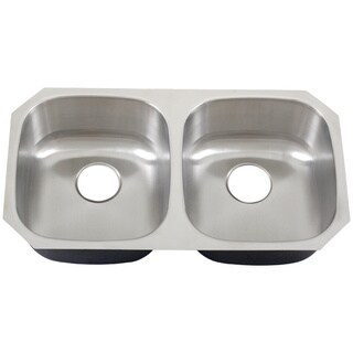 Phoenix 32.63-inch Stainless Steel 18-gauge Undermount Double Bowl Kitchen Sink
