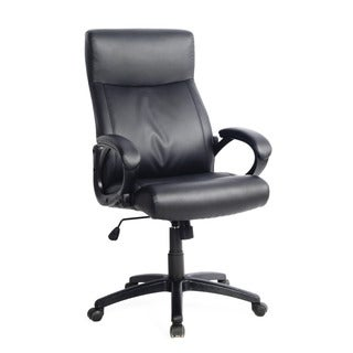 CorLiving WHL-107-C Black Leatherette Managerial Office Chair