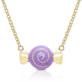 Molly and Emma Gold Overlay Enamel Candy Neklace