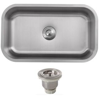 Phoenix 32-inch Stainless Steel 18 gauge Undermount Single Bowl Kitchen Sink