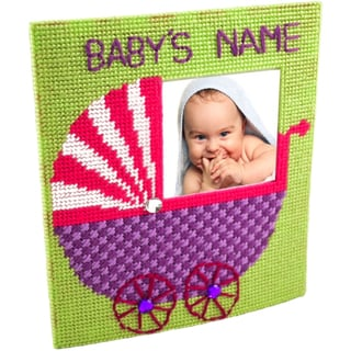 """The Nanny Framous Plastic Canvas Kit-7.7""""X6.7"""" 10 Count"""