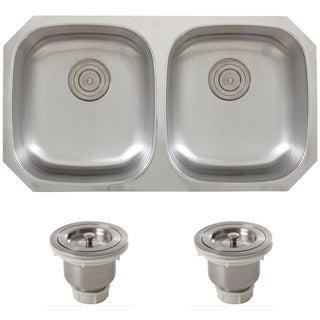 Phoenix 32-5/8-Inch Stainless Steel 18 gauge Undermount Double Bowl Kitchen Sink