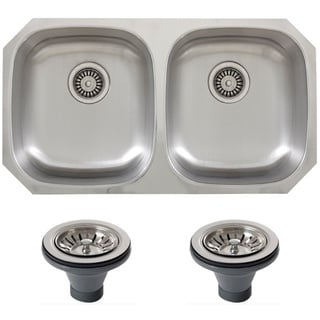 Phoenix 32.63-inch Inch Stainless Steel 18-gauge Undermount Double Bowl Kitchen Sink