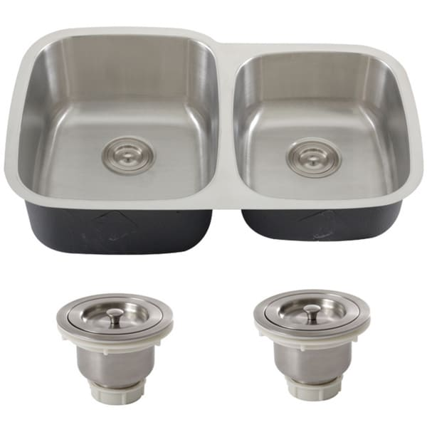 32 Inch Undermount Kitchen Sink: Phoenix 32-inch Stainless Steel 18-gauge Undermount Double