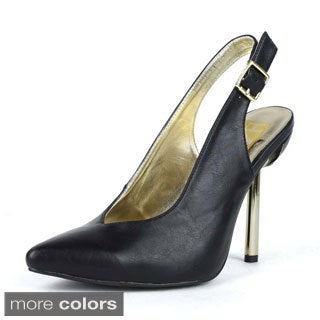 Fahrenheit Women's Brenda-03 Ankle Strap with Buckle Pointy Toe Heels