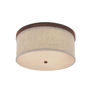 Capital Lighting Midtown Collection 3-light Burnished Bronze Flush Light