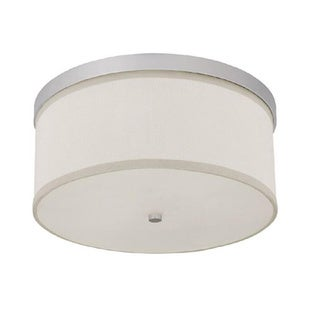 Capital Lighting Midtown Collection 3-light Matte Nickel Flush Light