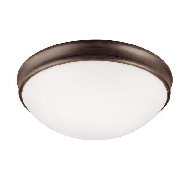 Capital Lighting Transitional 3-light Oil Bronze Rubbed Flush Light