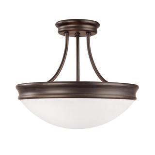 Capital Lighting Transitional 3-light Bronze Oil Rubbed Semi-Flush Light
