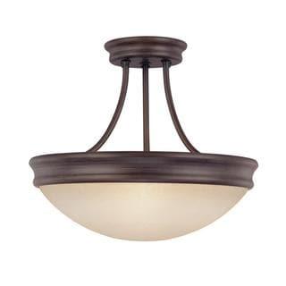 Capital Lighting Transitional 3-light Oil Rubbed Bronze Semi-Flush Light