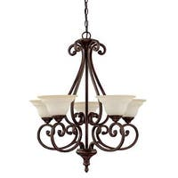 Capital Lighting Chandler Collection 5-light Burnished Bronze Chandelier