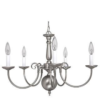 Capital Lighting Traditional Williamsburg style 5-light Matte Nickel Chandelier