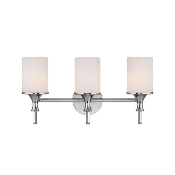 Capital Lighting Studio Collection 3 Light Polished Nickel Bath Vanity Light Free Shipping