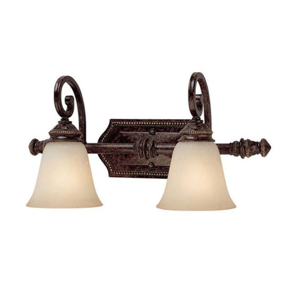 Capital Lighting Barclay Collection 2-light Chesterfield Brown Bath/ Vanity Light