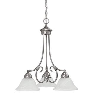Capital Lighting Hometown Collection 3-light Matte Nickel Chandelier