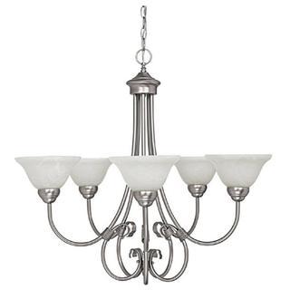 Capital Lighting Hometown Collection 5-light Matte Nickel Chandelier