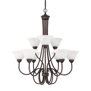 Capital Lighting Hometown Collection 9-light Burnished Bronze Chandelier