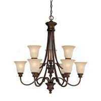 Capital Lighting Hill House Collection 9-light Burnished Bronze Chandelier