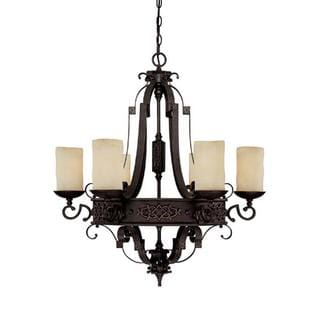 Capital Lighting River Crest Collection 6-light Rust Iron Chandelier