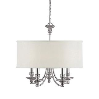 Capital Lighting Midtown Collection 5-light Polished Nickel Chandelier - N/A