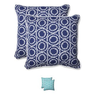 Pillow Perfect Outdoor Ring a Bell 18.5-inch Throw Pillow (Set of 2)