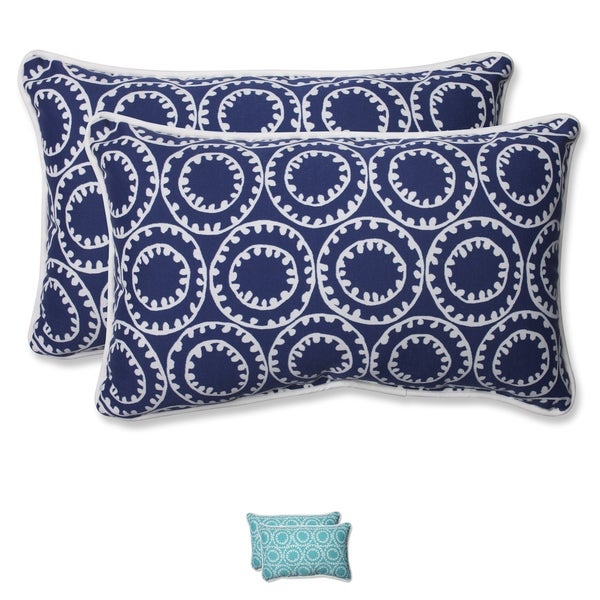 Pillow Perfect Outdoor Ring a Bell Rectangular Throw Pillow (Set of 2)