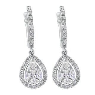 14k White Gold 1 3/8ct TDW Diamond Earrings
