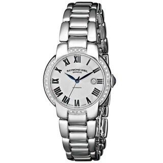 """Raymond Weil Women's 2629-STS-01659 """"Jasmine"""" Analog Display Swiss Automatic Silver Watch"""