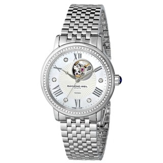 "Raymond Weil Women's 2627-STS-00965 ""Maestro"" Analog Display Swiss Automatic Silver Watch"