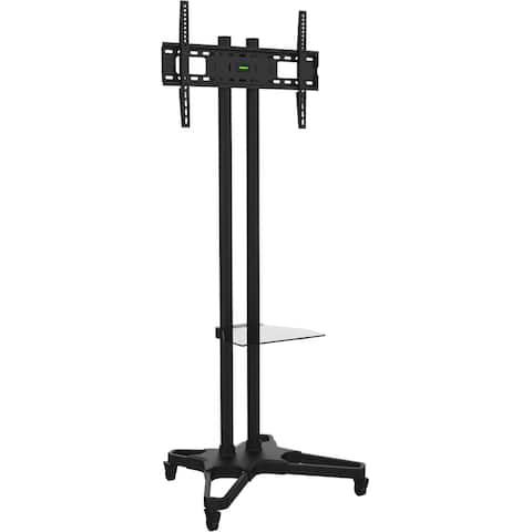 """Ematic Black Mobile TV Stand and Mount for 32""""-55"""" Screens"""