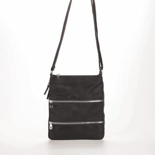 Women's Sacs of Life Triple Zip Crossbody Bag Black