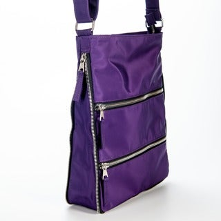 Women's Sacs of Life Triple Zip Cross Body Bag Black/Cream