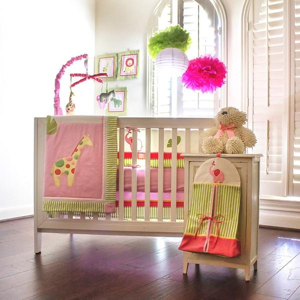 Pam Grace Creations Zoe's Zoo Day 10-piece Crib Bedding Set