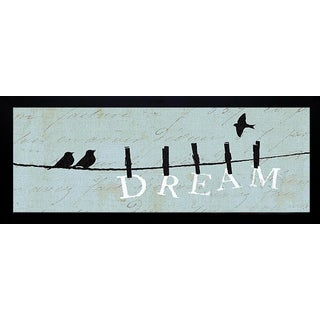 Pela 'Birds on a Wire - Dream' Framed Wall Art