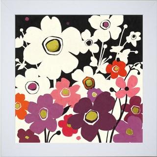 Shirley Novak 'Flower Power II' Framed Wall Art