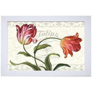 Lisa Audit 'Tulipa Botanica I Cream' Framed Art