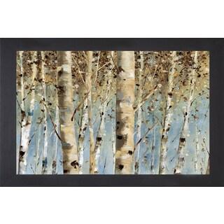 Lisa Audit 'White Forest I' Framed Art