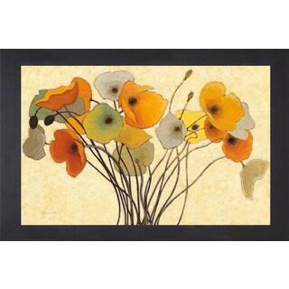 Shirley Novak 'Pumpkin Poppies I' Framed Art