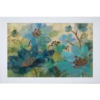Silvia Vassileva 'Peacock Garden' Framed Art