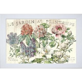 Sue Schlabach 'Le Jardin Printemps' Framed Art