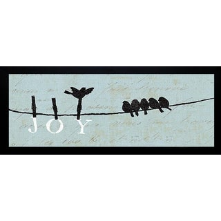 Pela 'Birds on a Wire - Joy' Framed Artwork