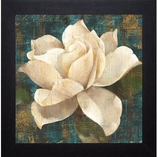 Albena Hristova 'Gardenia Blossom Turquoise' Framed Artwork