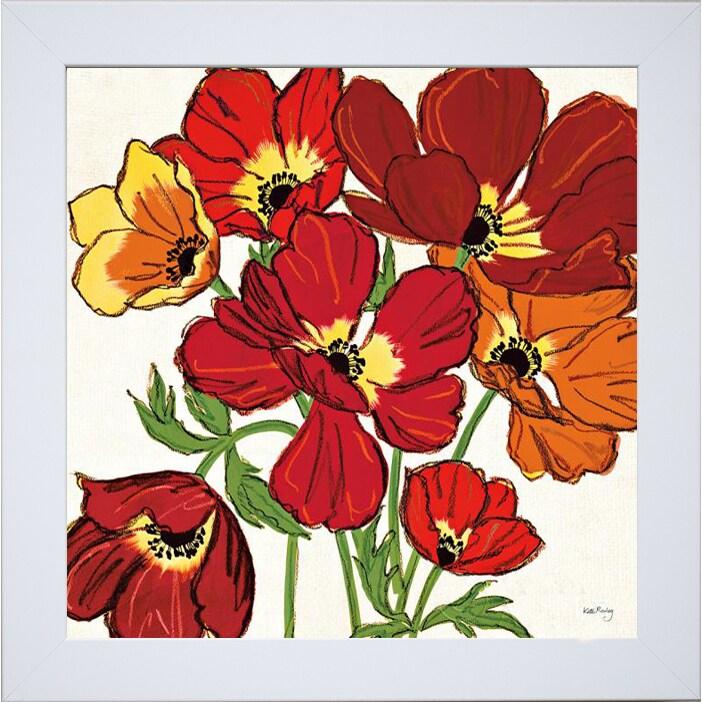 Kate Rowley 'Sweet William Crop' Framed Artwork (Embellis...