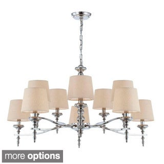 Jana Collection 10 Light Polished Nickel Chandelier