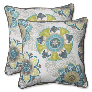 Pillow Perfect Outdoor Allodala Oasis 18.5-inch Throw Pillow (Set of 2)