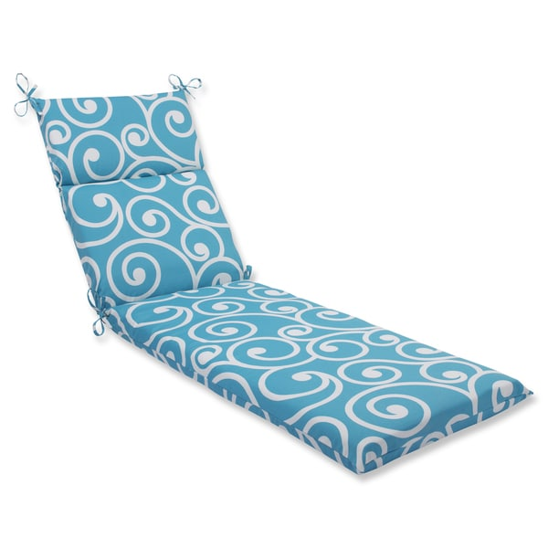 Pillow Perfect Outdoor Best Turquoise Chaise Lounge