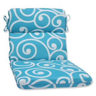 Pillow Perfect Outdoor Best Turquoise Rounded Corners Chair Cushion