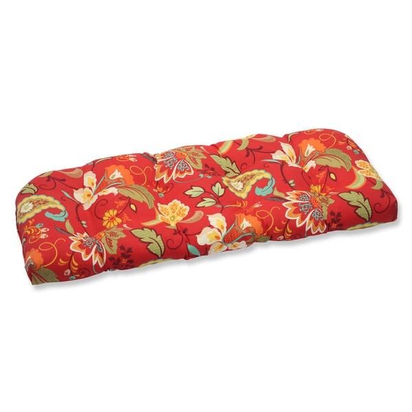 Pillow Perfect Outdoor Tamariu Alfresco Valencia Wicker Loveseat Cushion